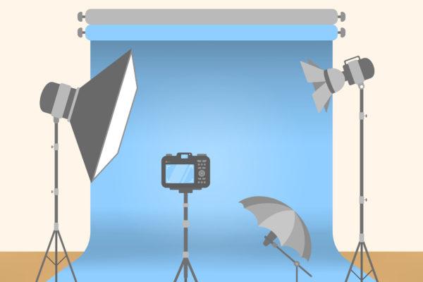 At photo studio